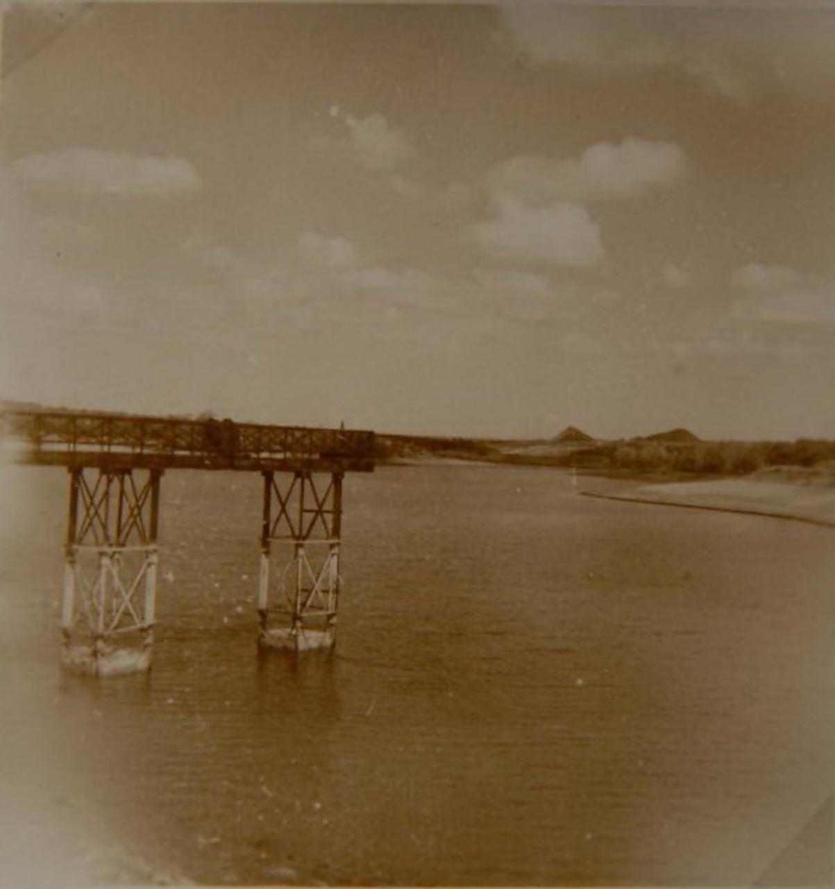 Памятные места города: металлический мост на Втором ставке.