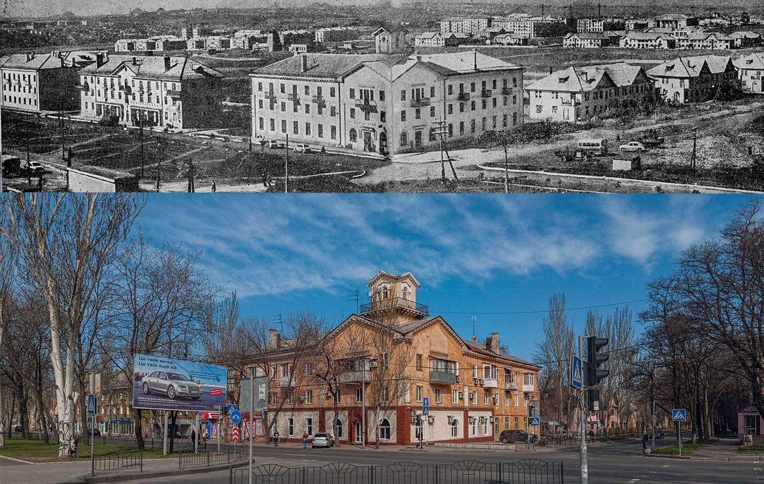 Фотолетопись. Пр. Ильича конца 1950 и 2014 г.