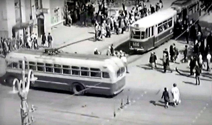 Фотолетопись. Сталино. Пересечении Артема и Гурова. 1960-61 г