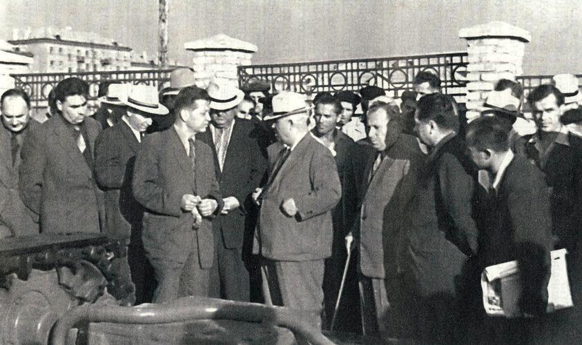 Фотолетопись. Сталино. Выставка горно-шахтного оборудования. 1956 год