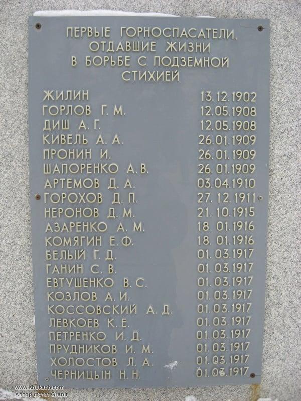 Фотолетопись. Памятник первым горноспасателям Донбасса
