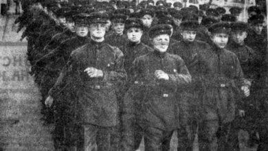 Фотолетопись. Первомайская демонстрация в Сталино. 1941 год
